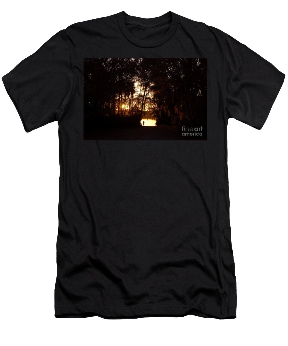 Lake Men's T-Shirt (Athletic Fit) featuring the photograph Lady Of The Lake by David Lee Thompson