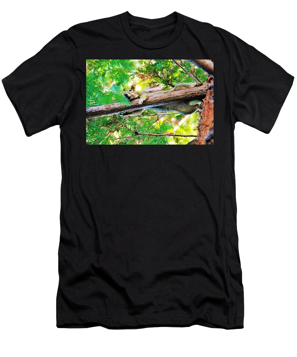 Landscape Men's T-Shirt (Athletic Fit) featuring the photograph Lady Please I Said No More Pictures by Krista Paul