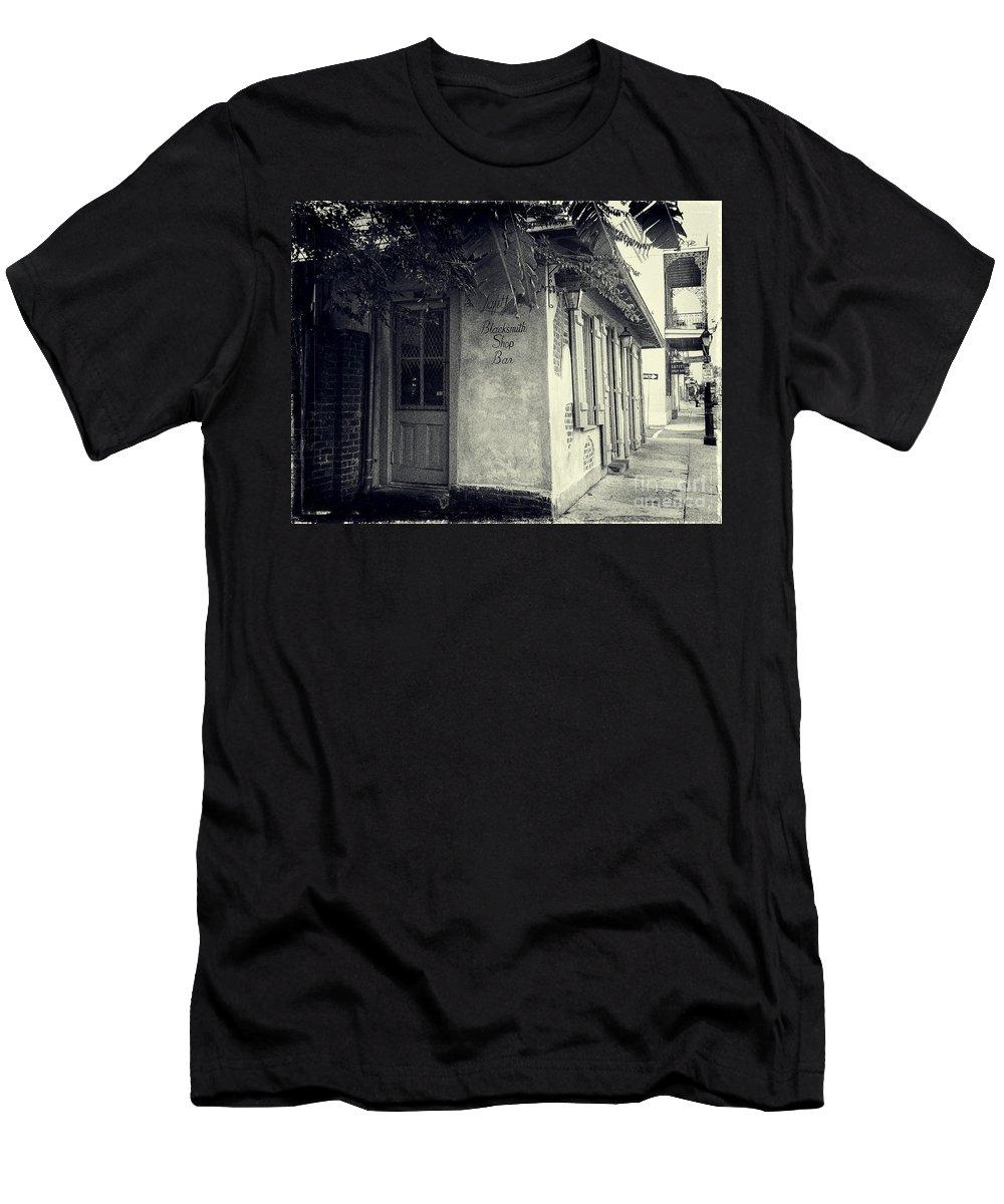 b0c1ea71f094 New Orleans Men's T-Shirt (Athletic Fit) featuring the photograph Lafitte's  Blacksmith Shop