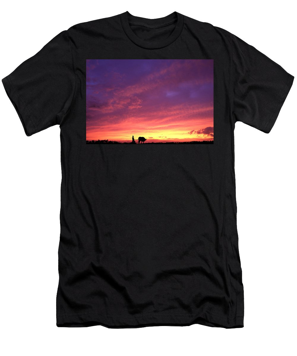 Sunset Men's T-Shirt (Athletic Fit) featuring the photograph Laguna Sunset by George Cabig