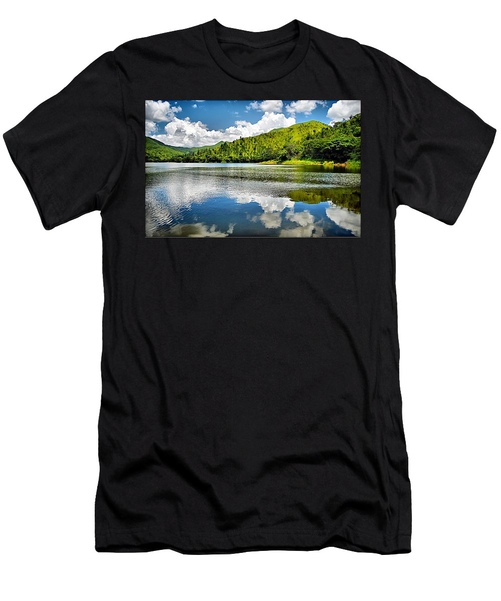 Lake Men's T-Shirt (Athletic Fit) featuring the photograph Lake Agua Blanca by Galeria Trompiz