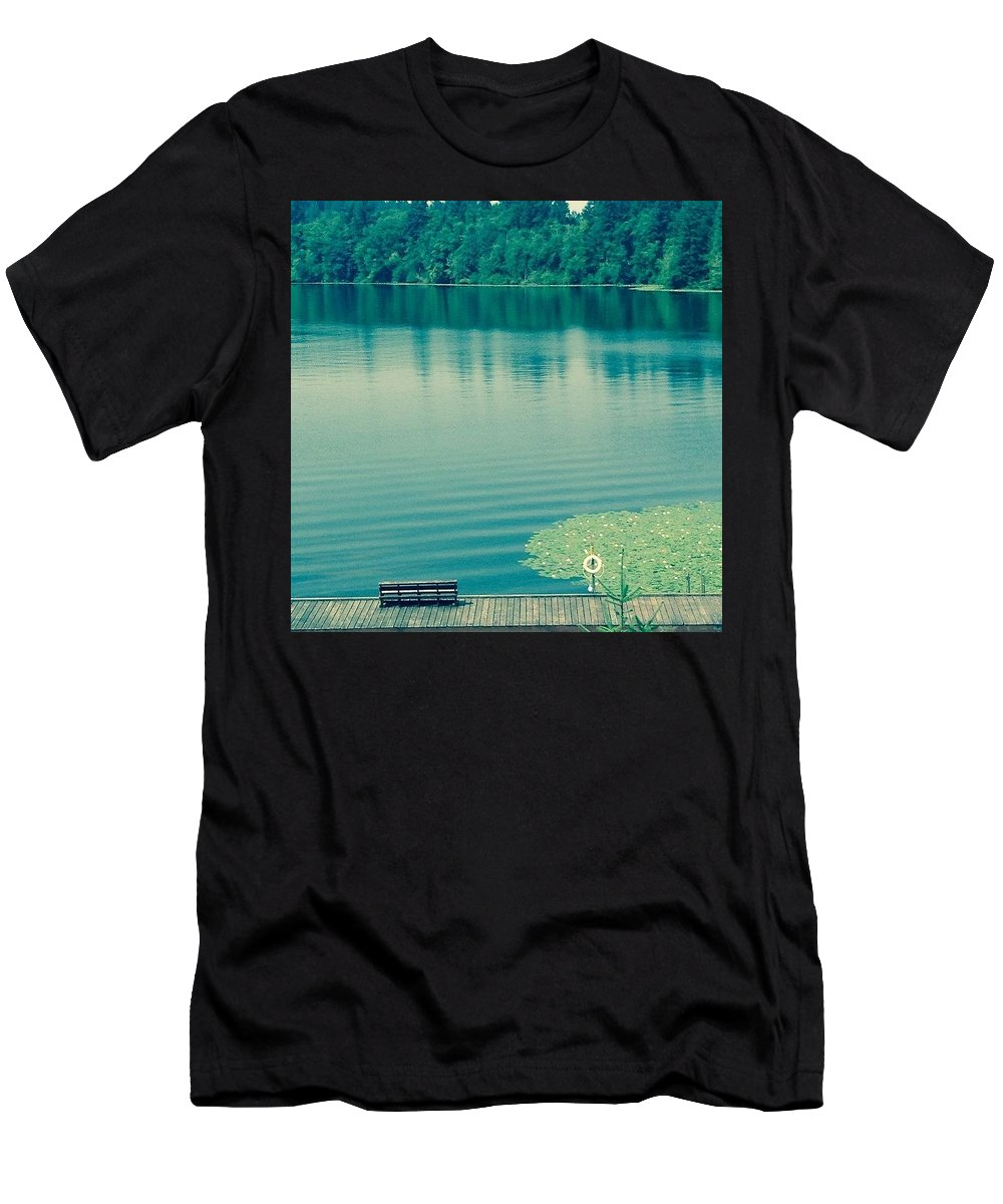 Lake Men's T-Shirt (Athletic Fit) featuring the photograph Lake by Andrew Redford