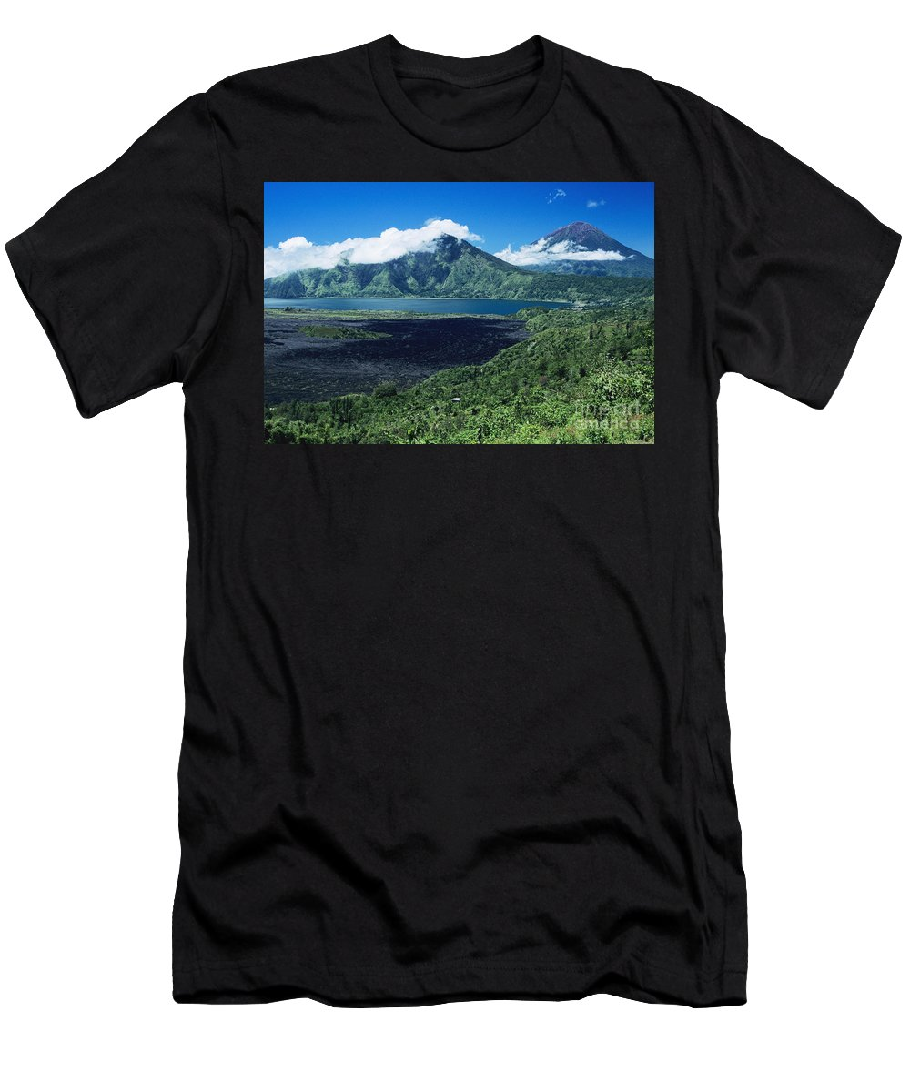 Afternoon Men's T-Shirt (Athletic Fit) featuring the photograph Lake Batur by Kyle Rothenborg - Printscapes