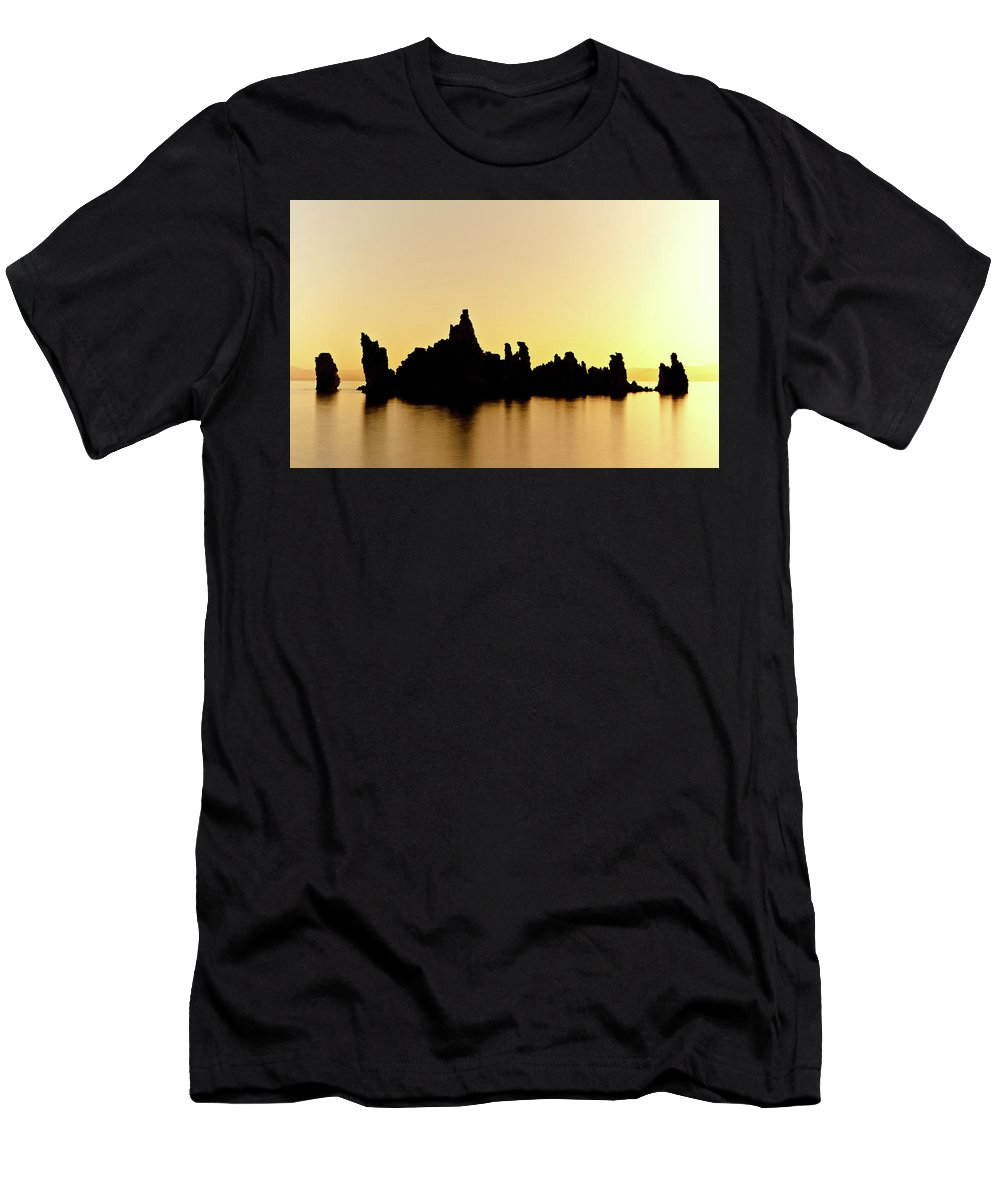 Lake Men's T-Shirt (Athletic Fit) featuring the digital art Lake by Dorothy Binder