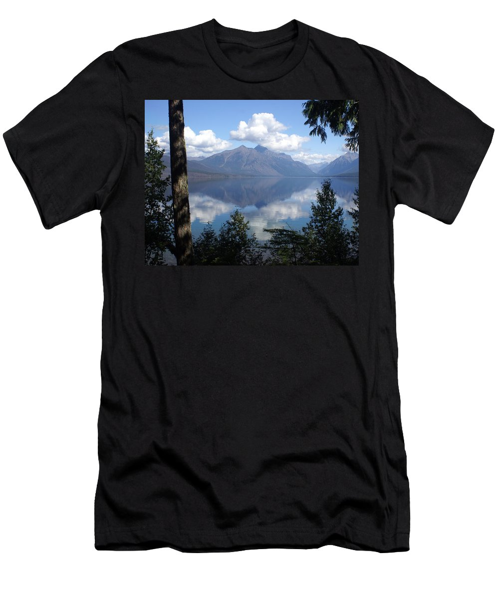 Lake Men's T-Shirt (Athletic Fit) featuring the photograph Lake Mcdonald Glacier National Park by Marty Koch