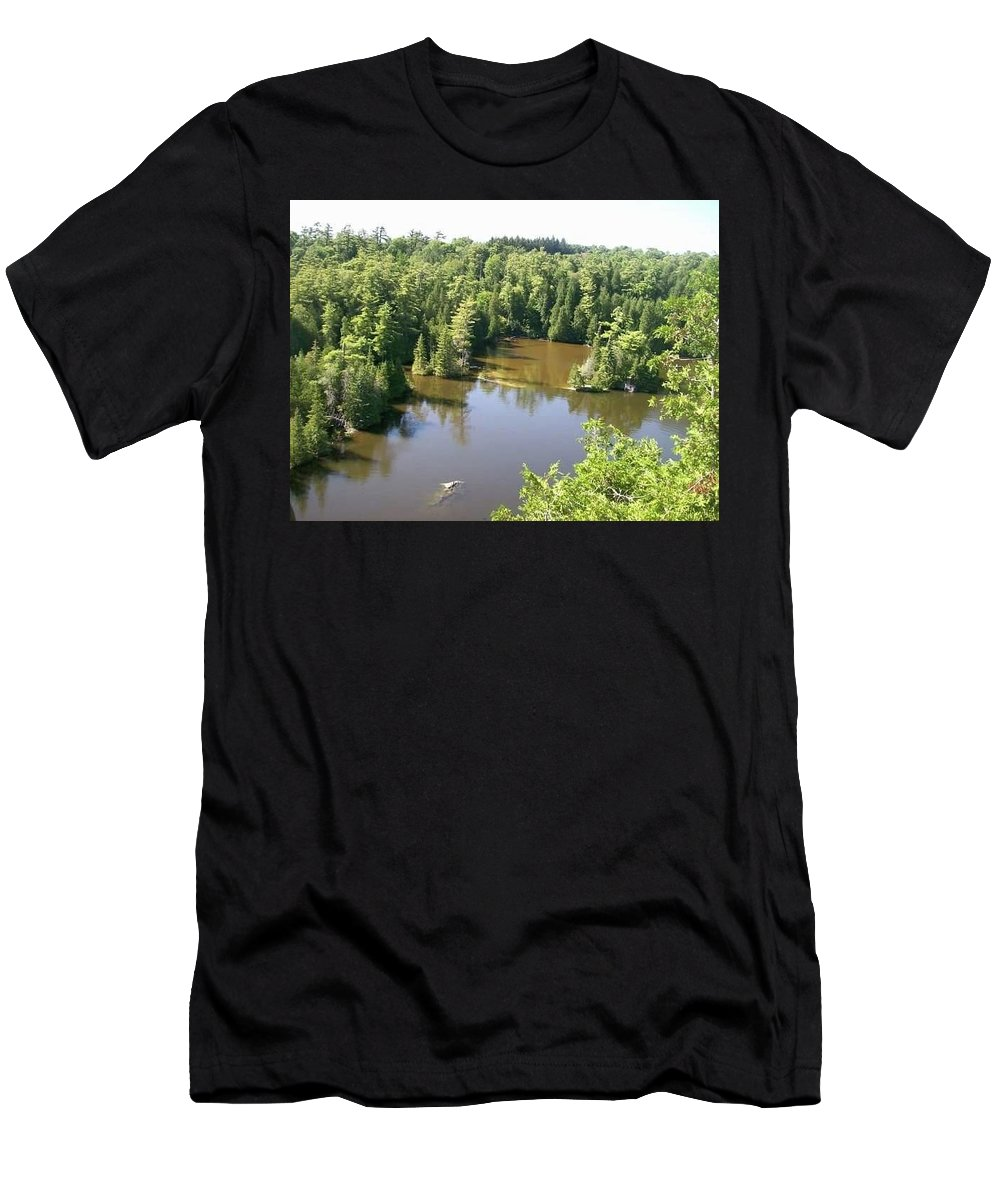 Landscape Men's T-Shirt (Athletic Fit) featuring the photograph Lake by Paul Fisher