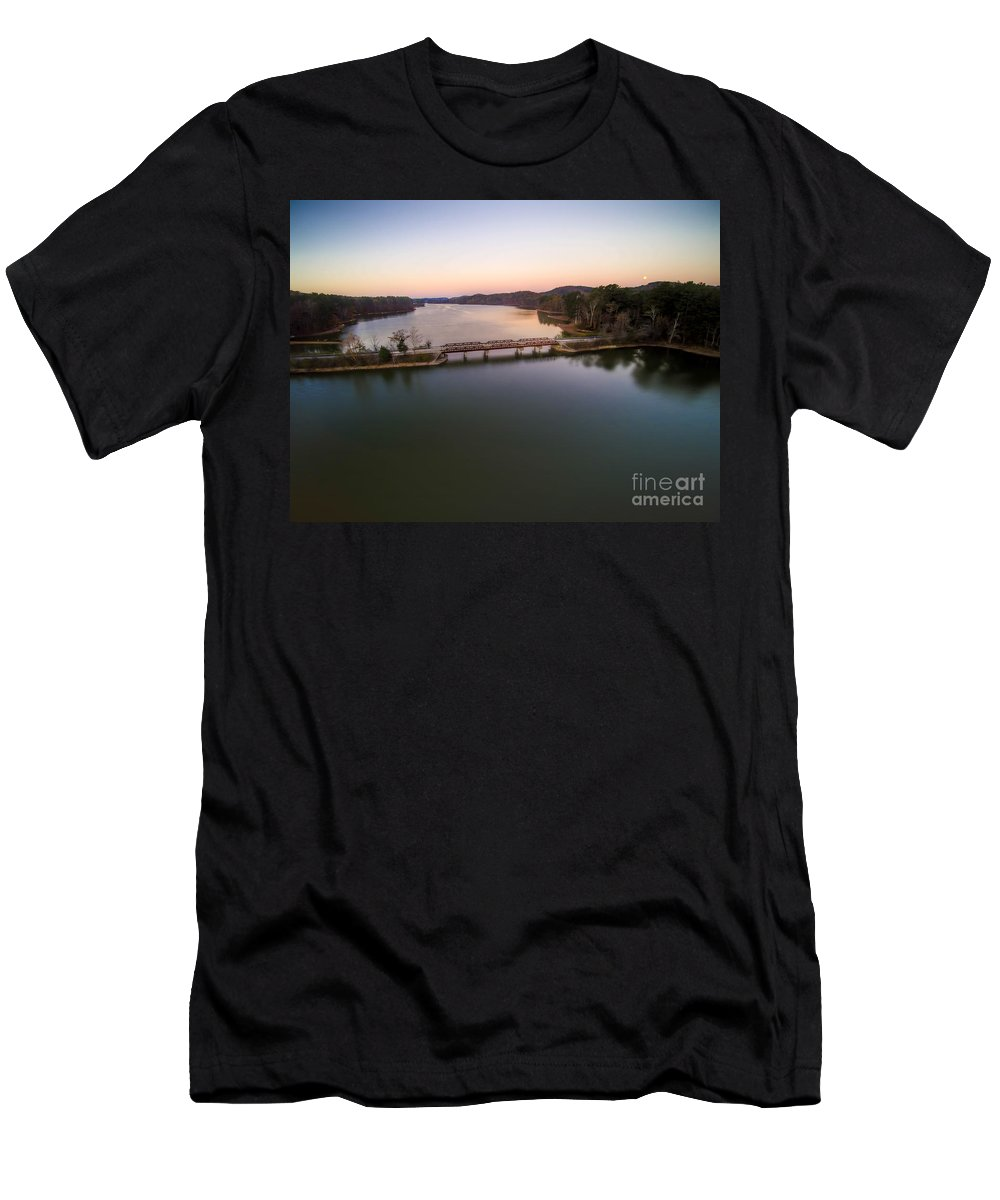 Lake Purdy Men's T-Shirt (Athletic Fit) featuring the photograph Lake Purdy At Grants Mill by Ken Johnson