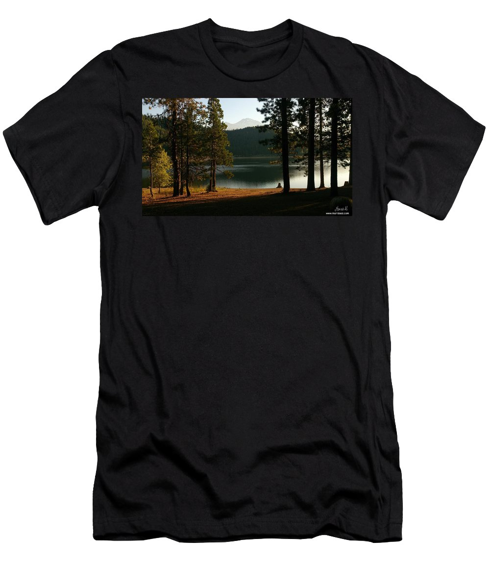 Lake Men's T-Shirt (Athletic Fit) featuring the photograph Lake Siskiyou by Marisa Al