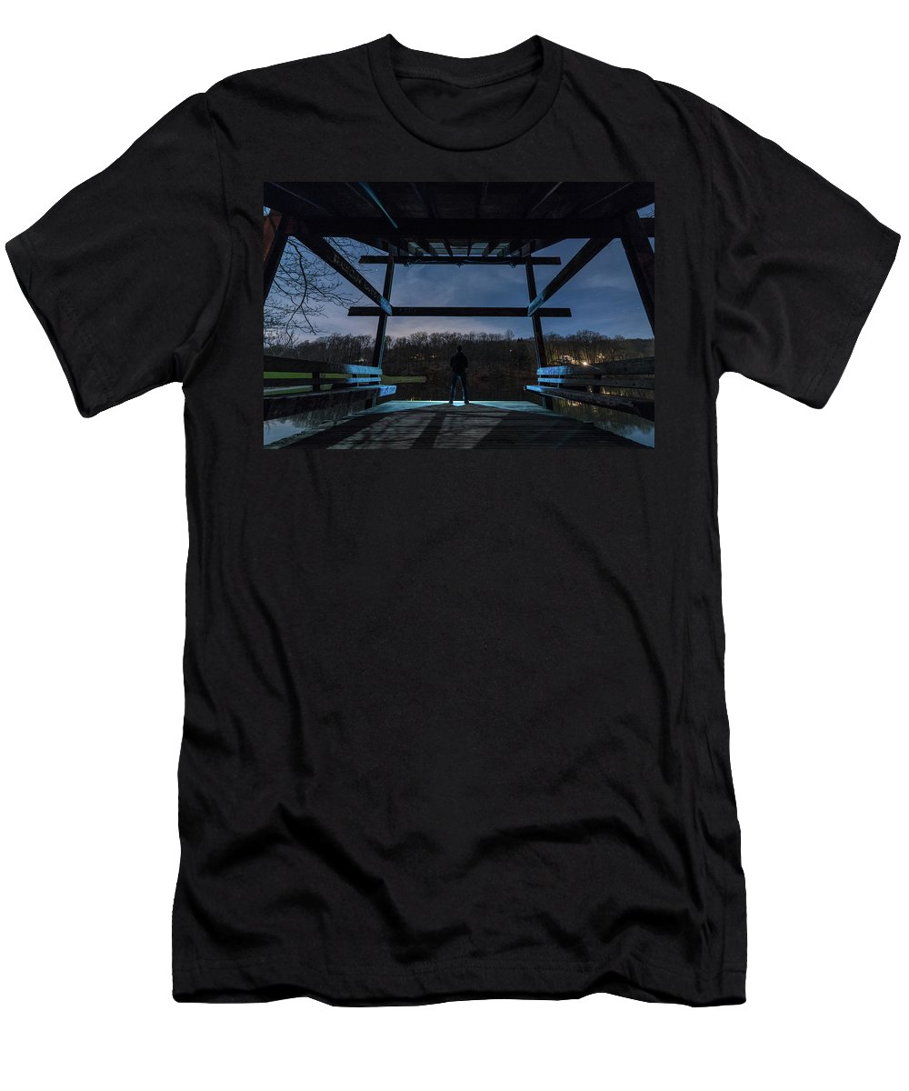 Lake Solitude Men's T-Shirt (Athletic Fit) featuring the photograph Lake Solitude by Kristopher Schoenleber