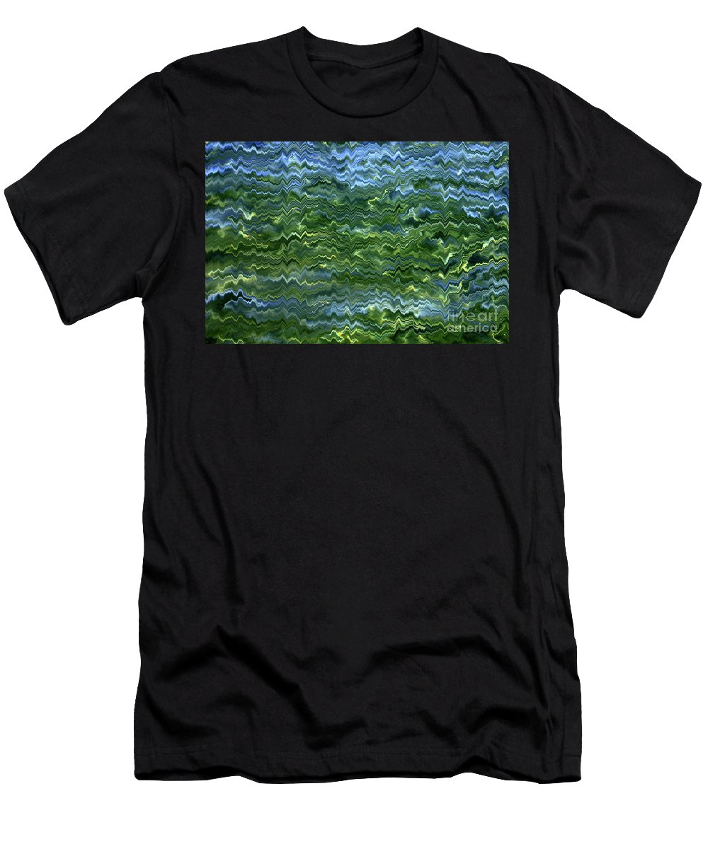 Abstract Men's T-Shirt (Athletic Fit) featuring the photograph Lake Tahoe Abstract by Carol Groenen