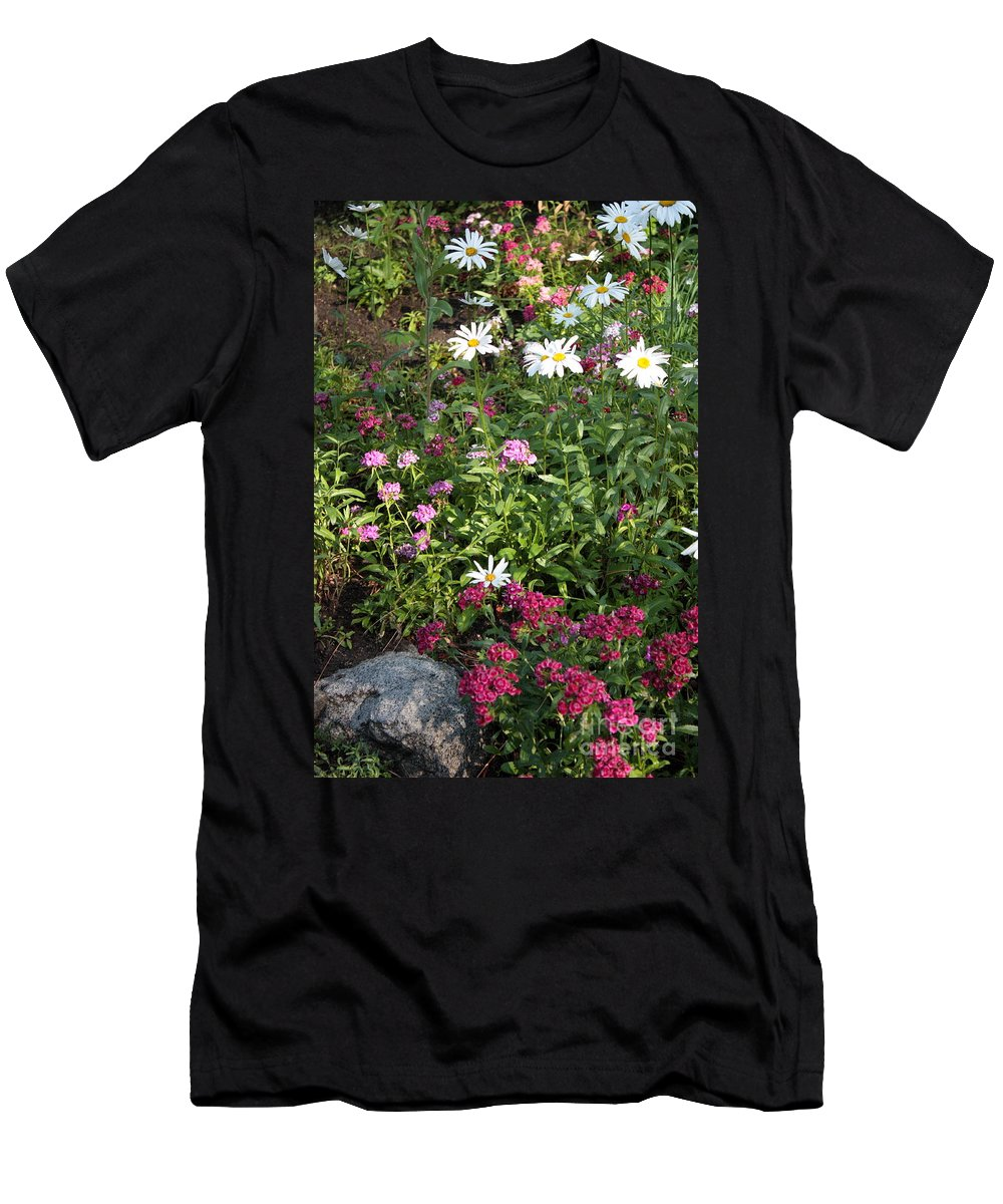 Flowers Men's T-Shirt (Athletic Fit) featuring the photograph Lake Tahoe Beauties by Carol Groenen