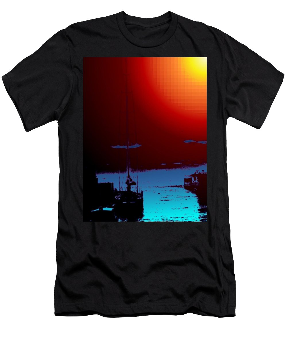 Seattle Men's T-Shirt (Athletic Fit) featuring the photograph Lake Union Moorage by Tim Allen