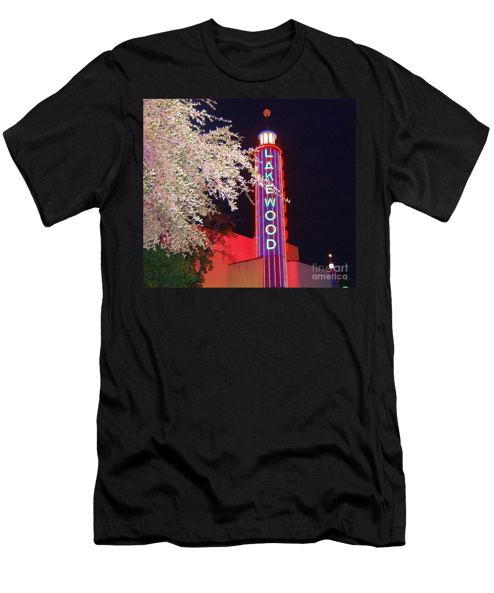 Theater Men's T-Shirt (Athletic Fit) featuring the photograph Lakewood Theater by Debbi Granruth