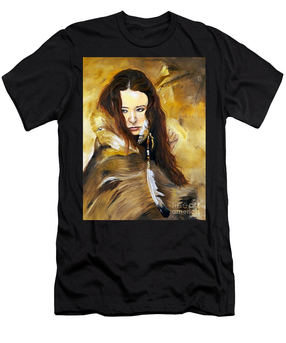 Southwest Art Men's T-Shirt (Athletic Fit) featuring the painting Lament by J W Baker