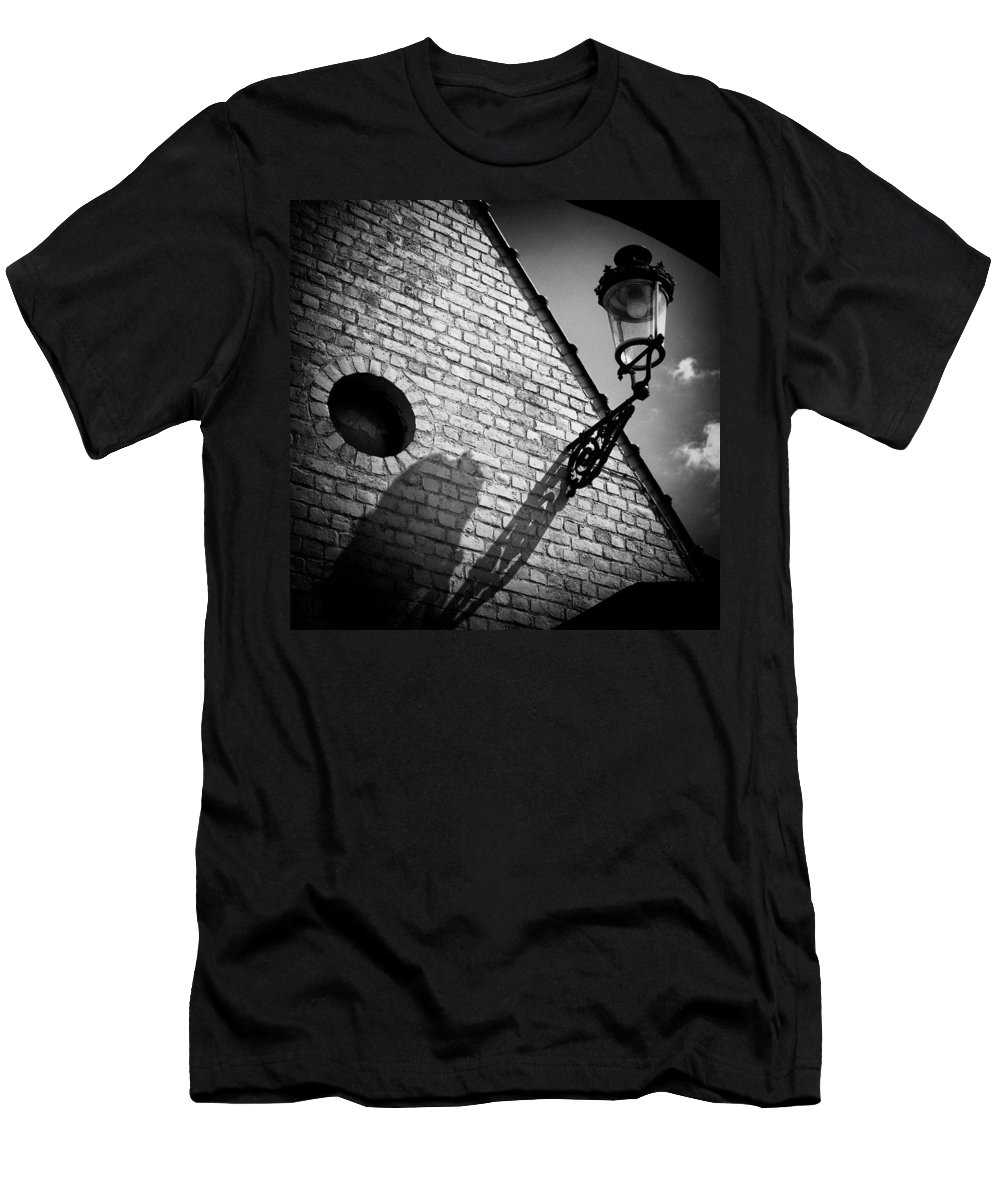 Lamp Men's T-Shirt (Athletic Fit) featuring the photograph Lamp With Shadow by Dave Bowman