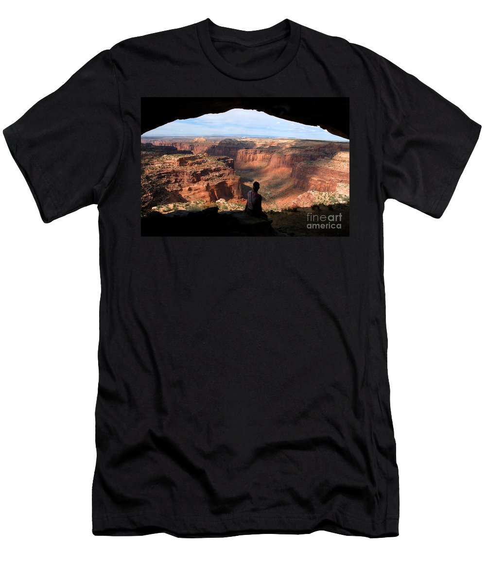Canyon Lands National Park Utah Men's T-Shirt (Athletic Fit) featuring the photograph Land Of Canyons by David Lee Thompson