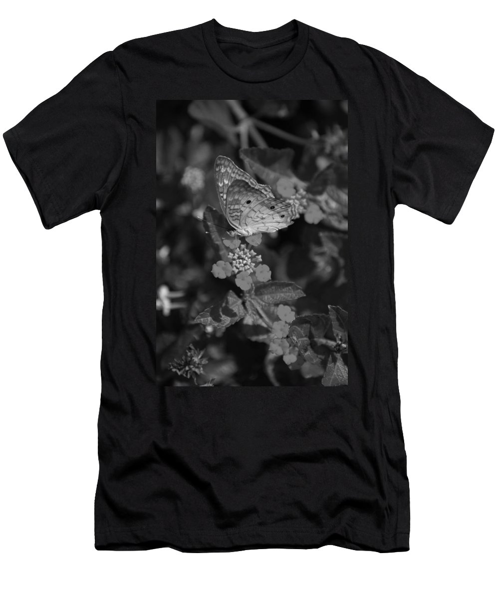 Black And White Men's T-Shirt (Athletic Fit) featuring the photograph Landed by Rob Hans