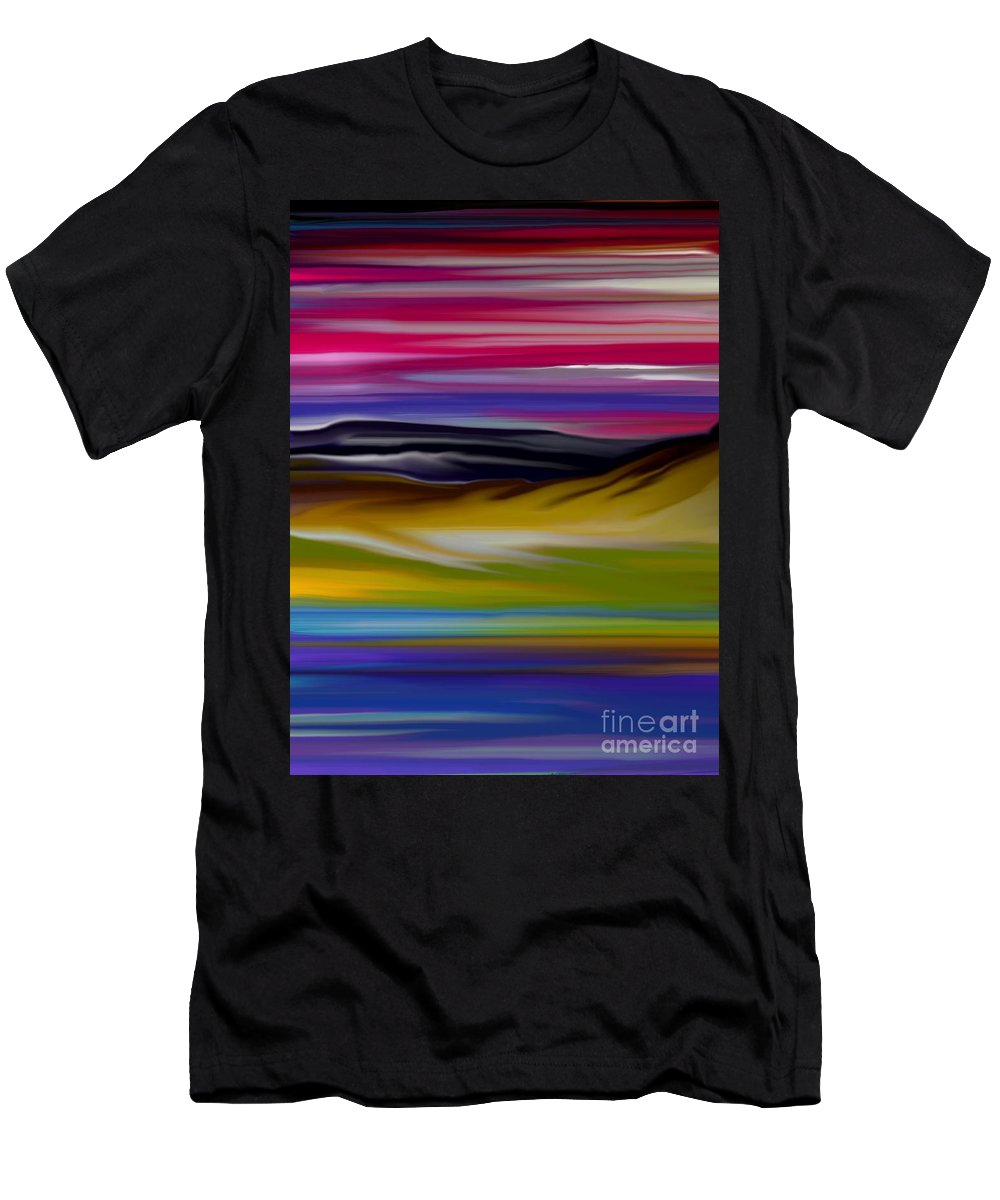 Digital Fantasy Painting Men's T-Shirt (Athletic Fit) featuring the digital art Landscape 7-11-09 by David Lane