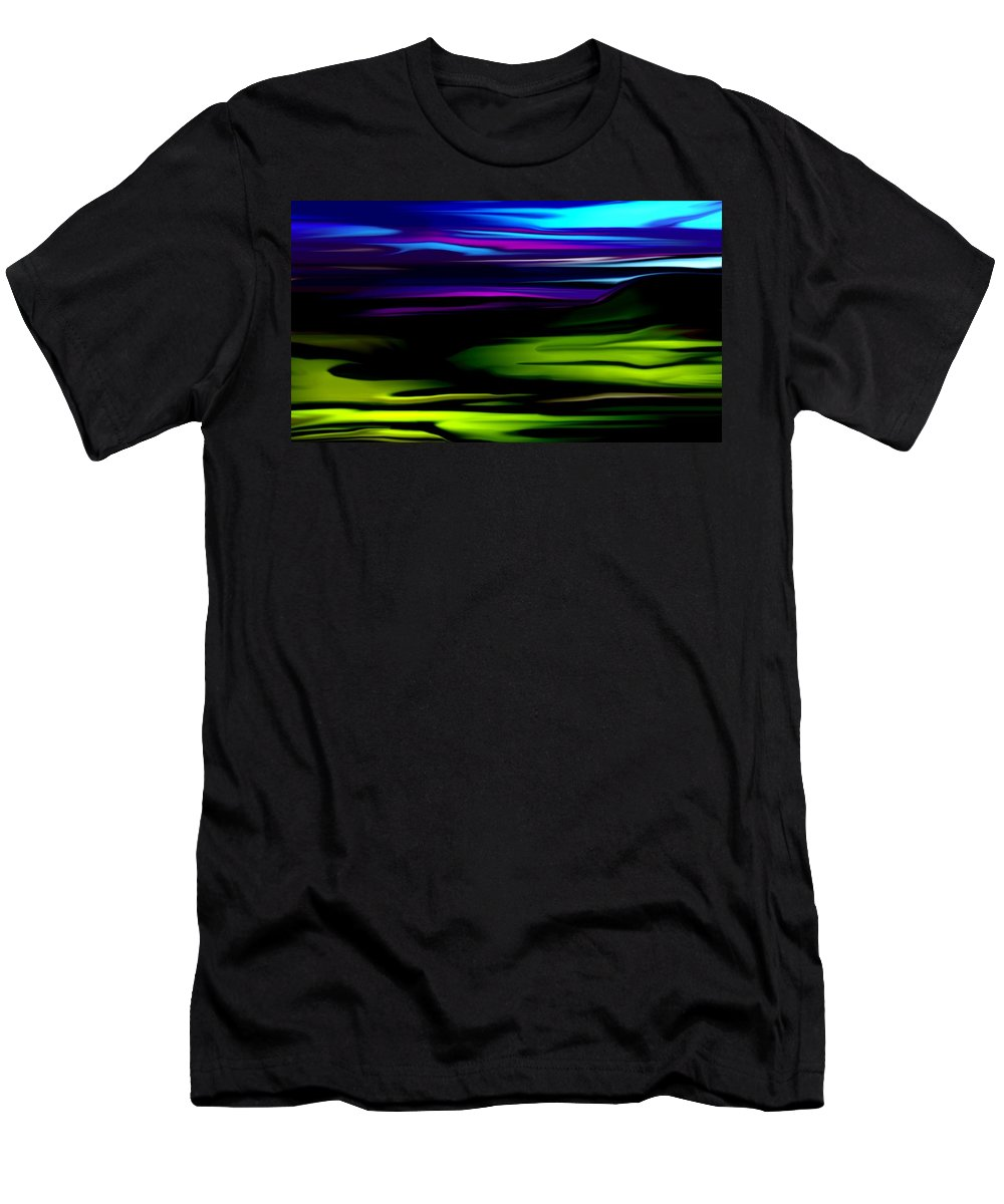 Abstract Expressionism Men's T-Shirt (Athletic Fit) featuring the digital art Landscape 8-05-09 by David Lane