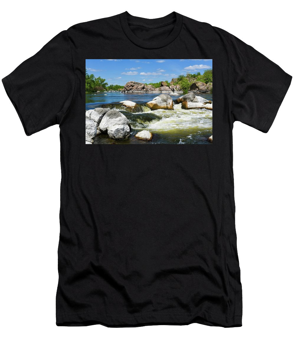River Men's T-Shirt (Athletic Fit) featuring the photograph Landscape_3 by Anisiia Tkachuk
