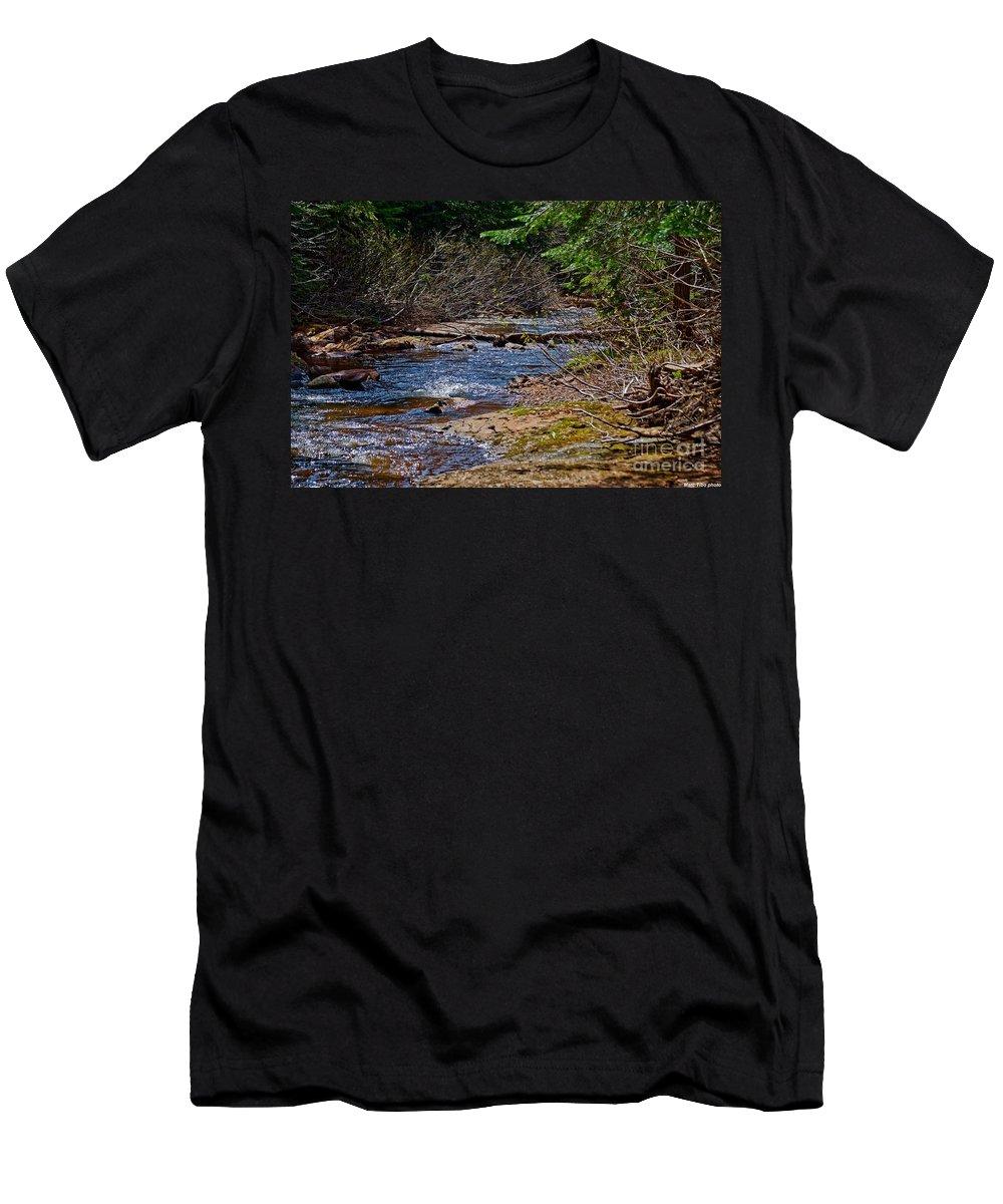 Men's T-Shirt (Athletic Fit) featuring the photograph Landscape4 Juin 2018 by Marc Thibault