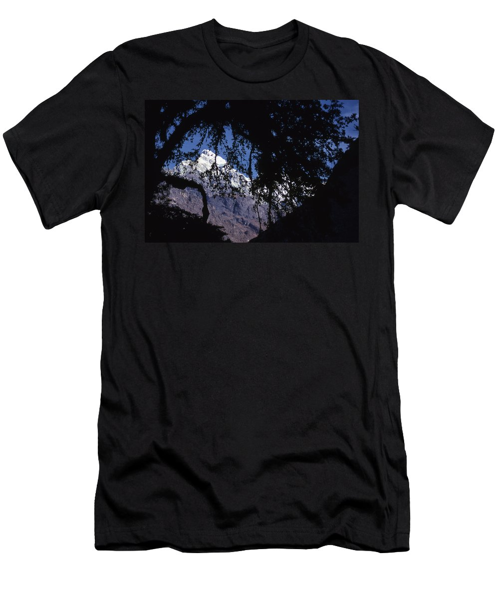 Langtang Men's T-Shirt (Athletic Fit) featuring the photograph Langtang by Patrick Klauss