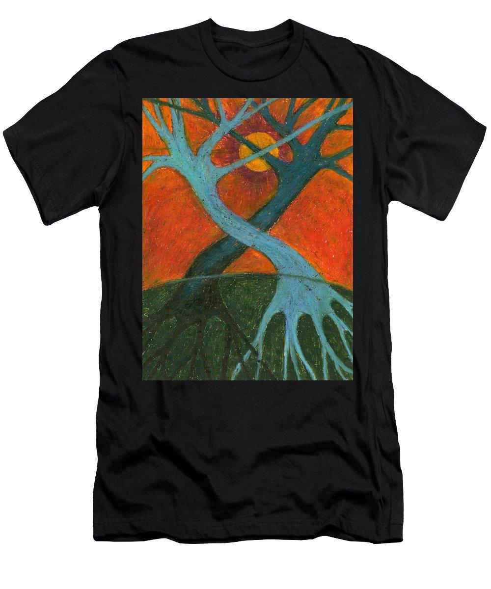 Colour Men's T-Shirt (Athletic Fit) featuring the painting Lapse by Wojtek Kowalski