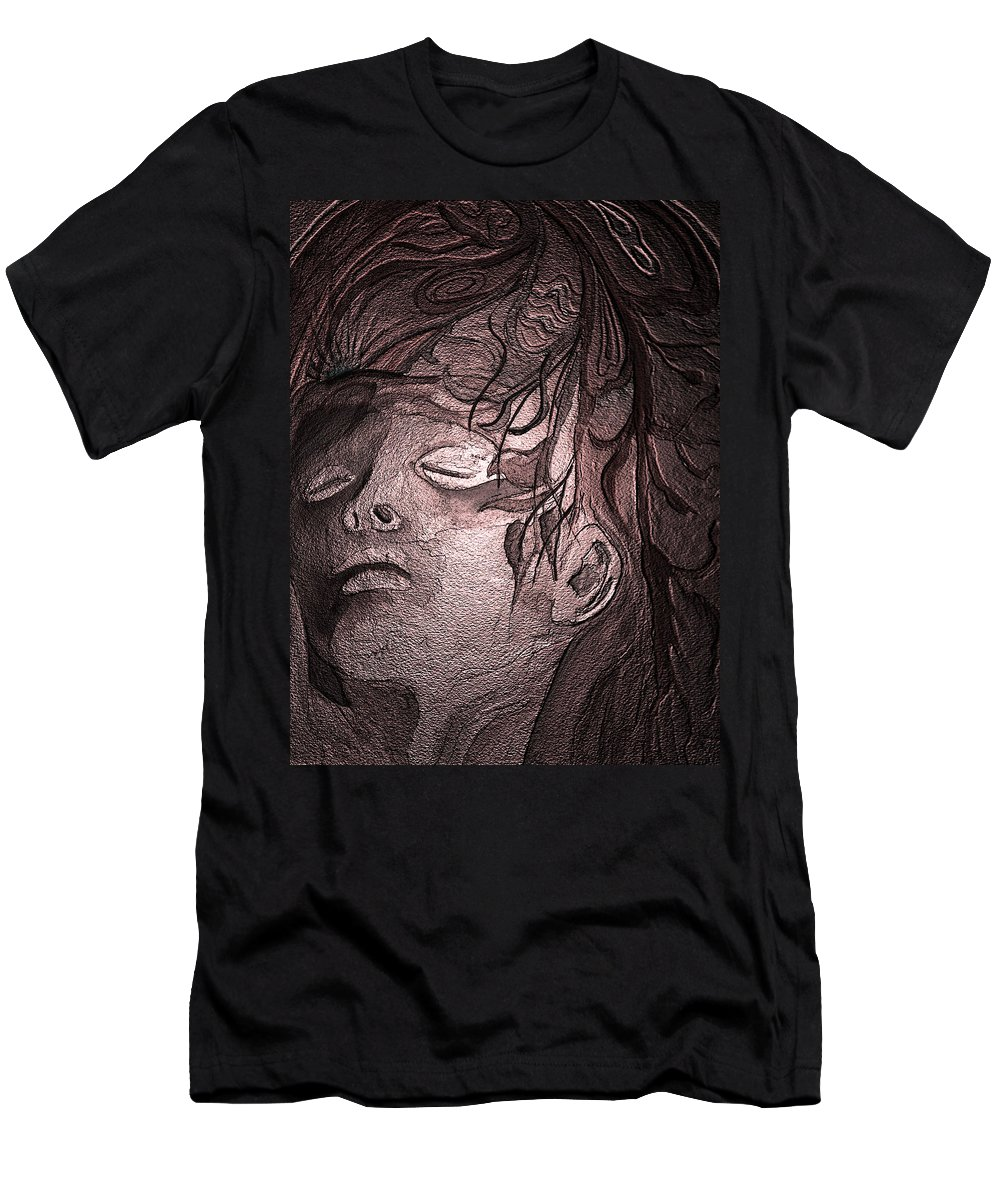 Watercolor Men's T-Shirt (Athletic Fit) featuring the painting Last King Of Mars by Brenda Owen
