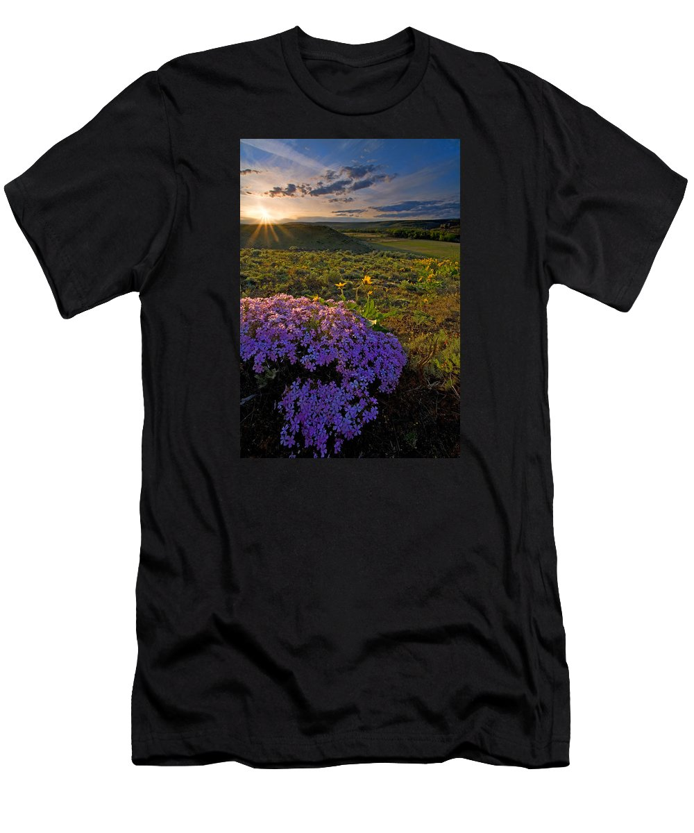Wildflowers T-Shirt featuring the photograph Last Light of Spring by Mike Dawson