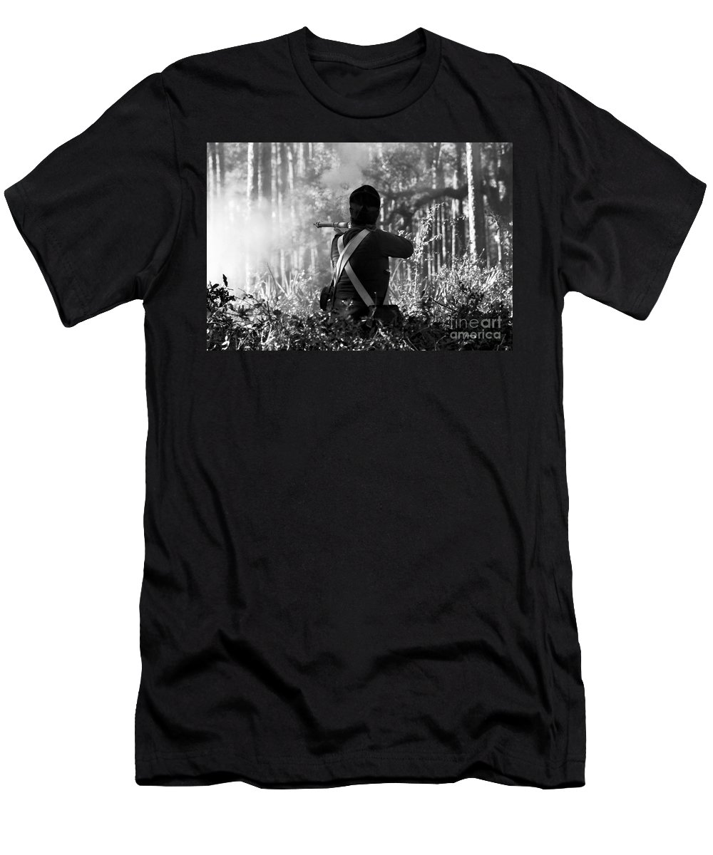 Last Man Standing Men's T-Shirt (Athletic Fit) featuring the photograph Last Man Standing by David Lee Thompson