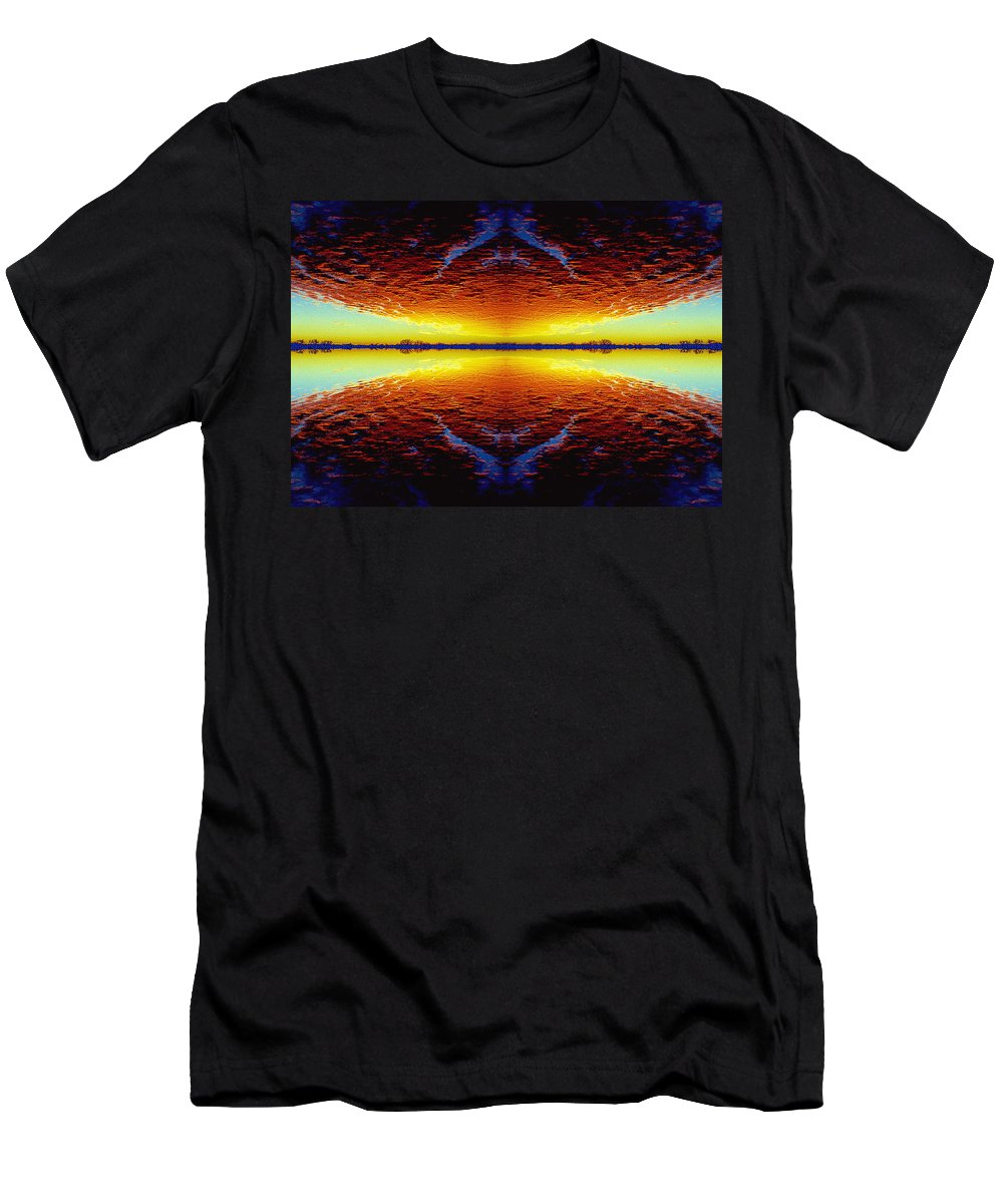 Sunset Men's T-Shirt (Athletic Fit) featuring the photograph Last Sunset by Nancy Mueller