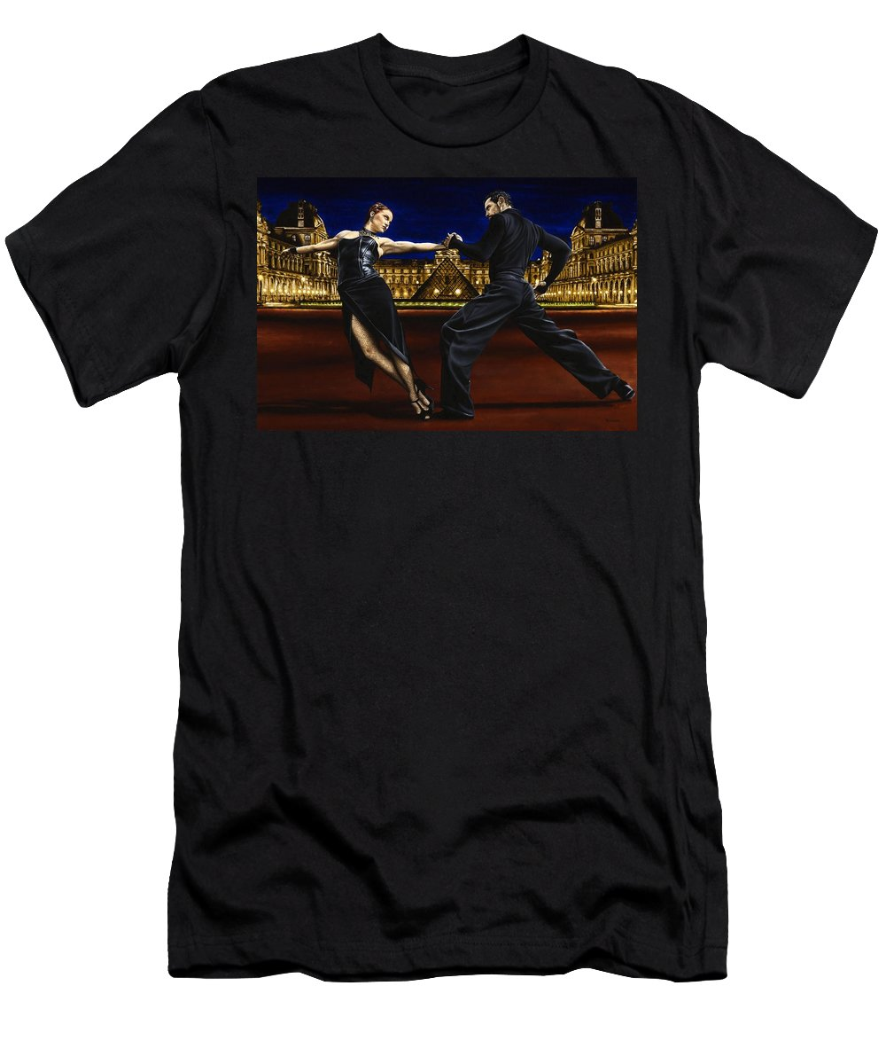 Tango Men's T-Shirt (Athletic Fit) featuring the painting Last Tango In Paris by Richard Young