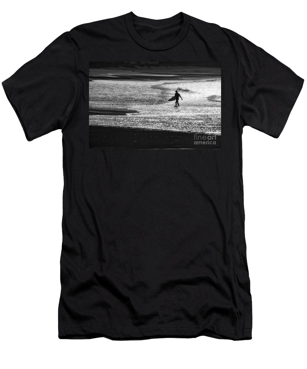Surfer T-Shirt featuring the photograph Last wave by Sheila Smart Fine Art Photography