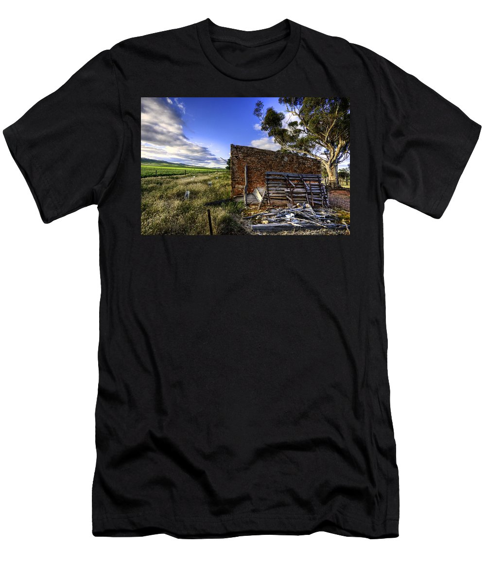 Farm Men's T-Shirt (Athletic Fit) featuring the photograph Late Afternoon by Wayne Sherriff