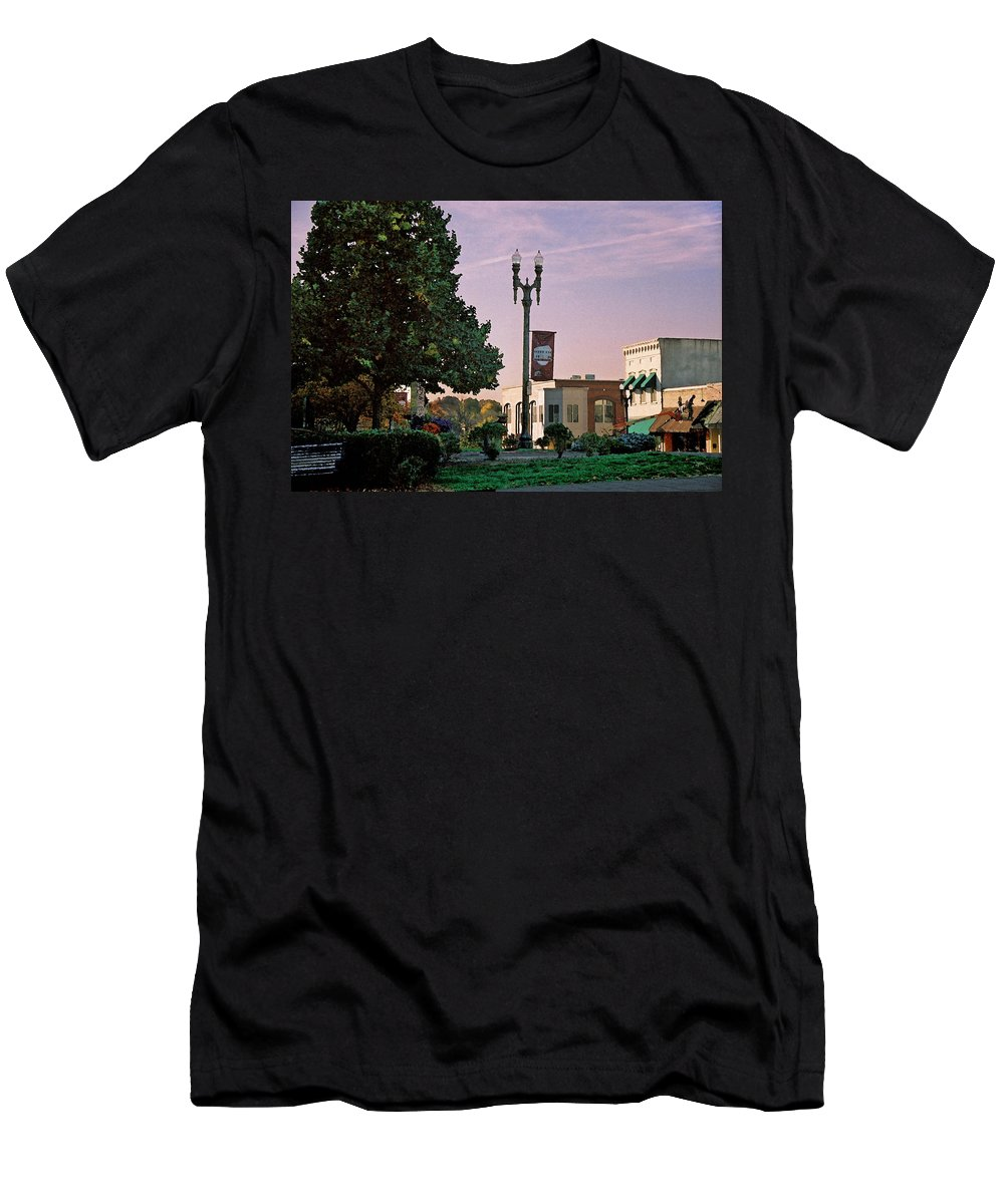 Landscape Men's T-Shirt (Athletic Fit) featuring the photograph Late Sunday Afternoon by Steve Karol