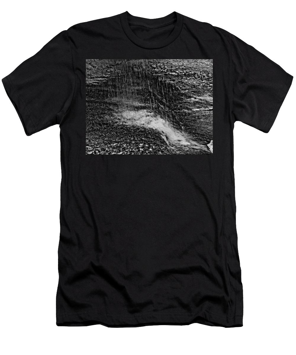 Falls Men's T-Shirt (Athletic Fit) featuring the photograph Lava Falls by Michael Bessler