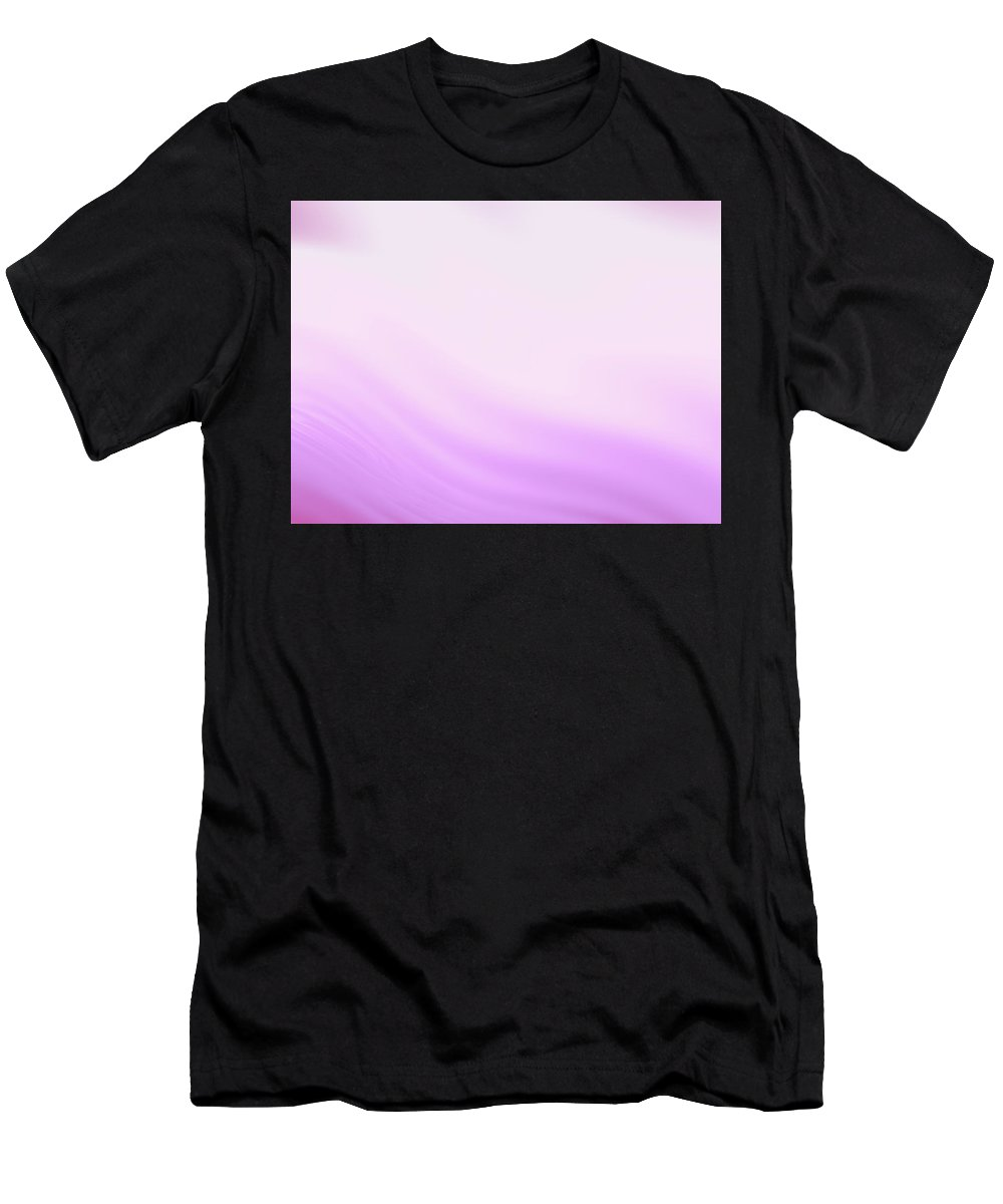 Abstract Men's T-Shirt (Athletic Fit) featuring the digital art Lavender And Pink Waves by Rich Leighton