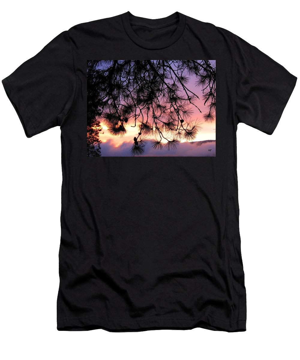 Sunset Men's T-Shirt (Athletic Fit) featuring the photograph Lavender Sunset by Will Borden