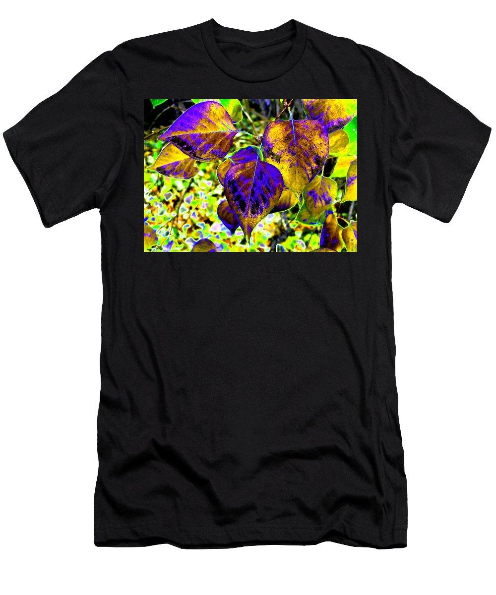 Lavish Leaves Men's T-Shirt (Athletic Fit) featuring the digital art Lavish Leaves 3 by Will Borden