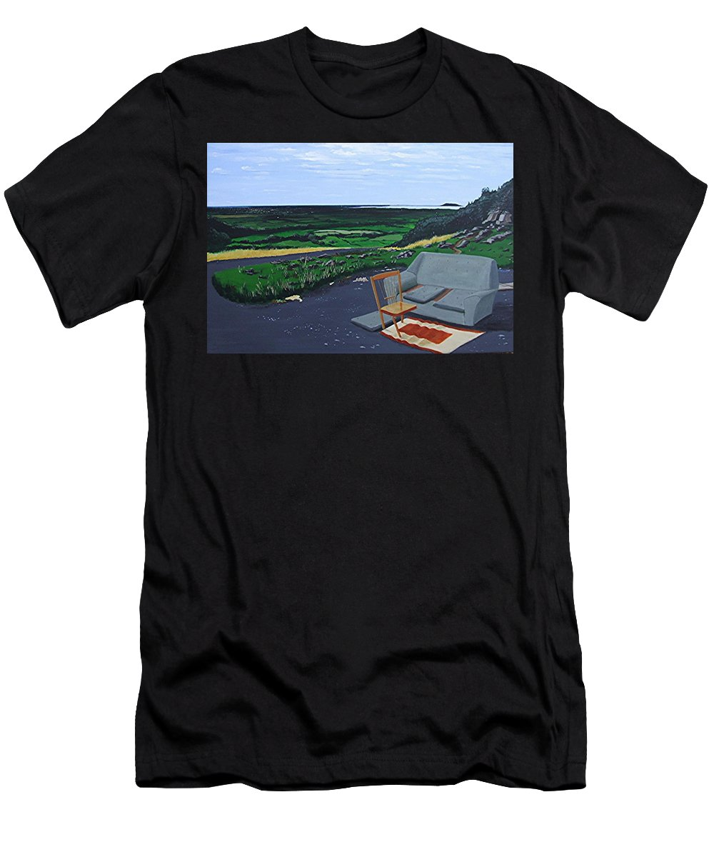 Lay-bye Men's T-Shirt (Athletic Fit) featuring the painting Lay-bye by Tony Gunning