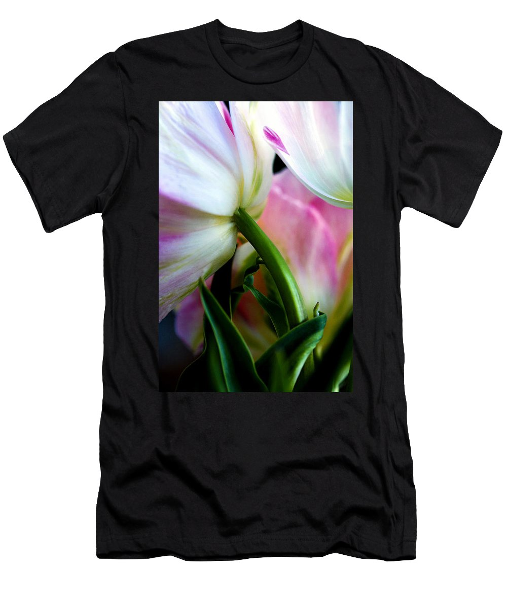 Flower Men's T-Shirt (Athletic Fit) featuring the photograph Layers Of Tulips by Marilyn Hunt