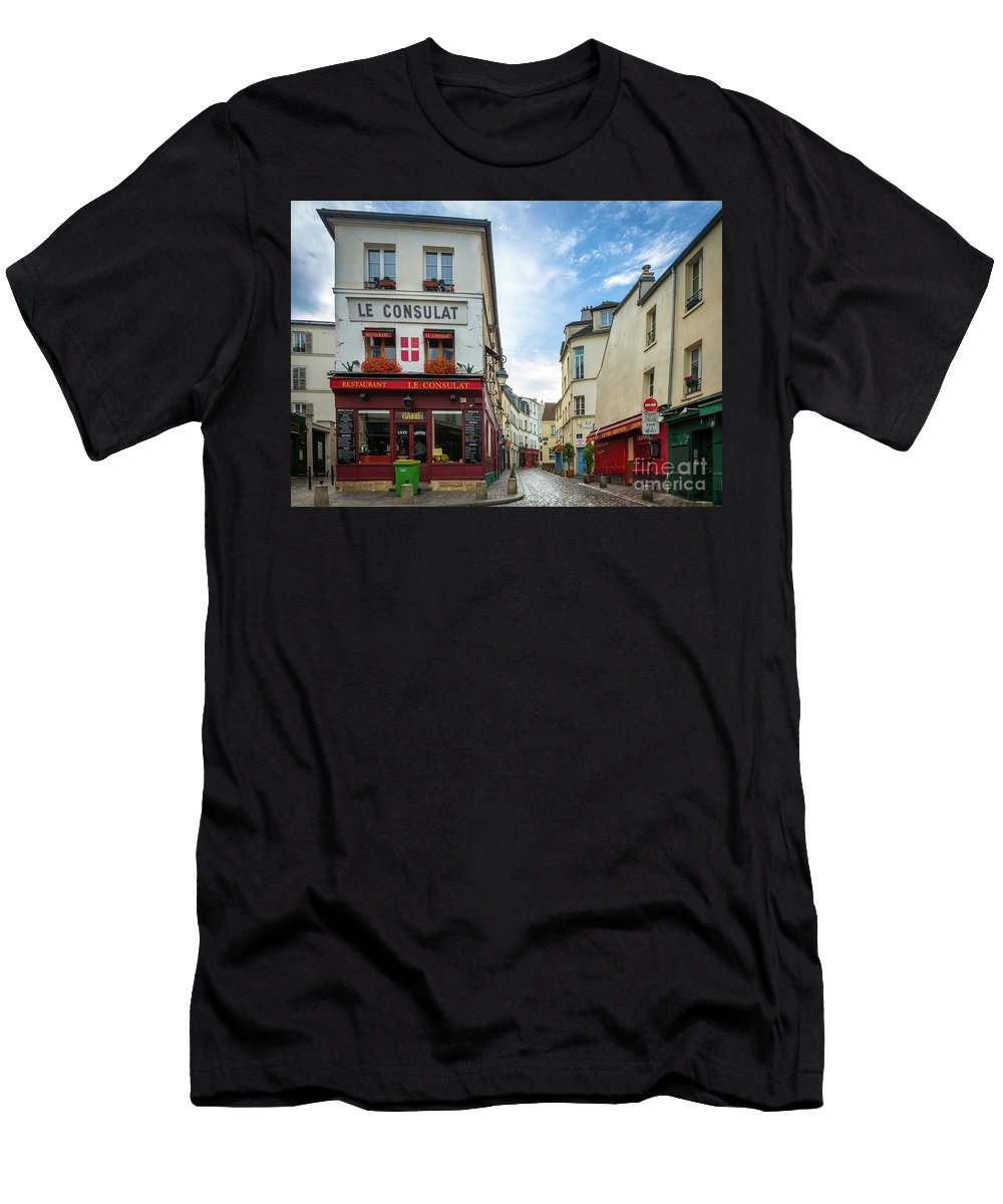 Europa Men's T-Shirt (Athletic Fit) featuring the photograph Le Consulat by Inge Johnsson