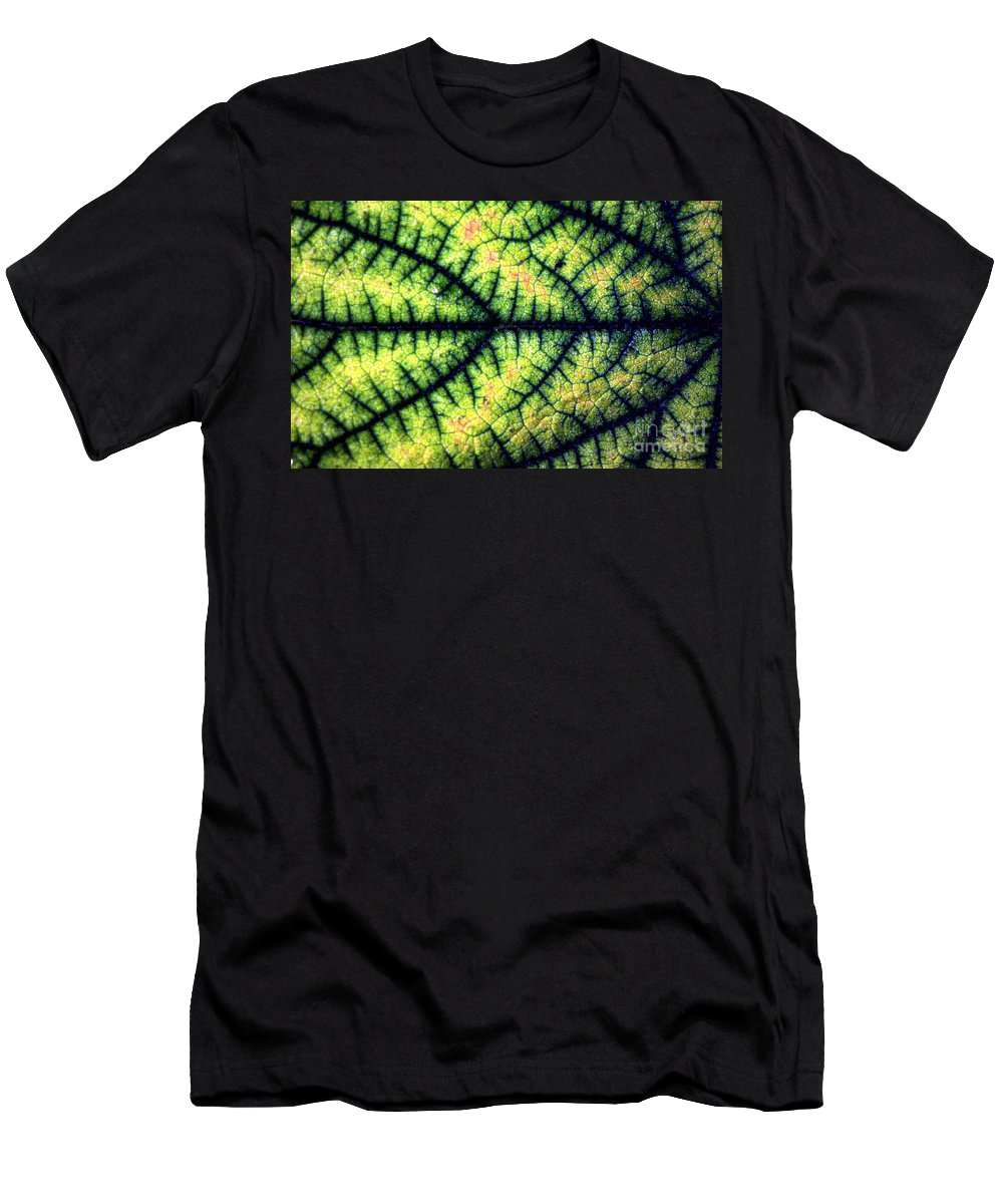 Leaf Men's T-Shirt (Athletic Fit) featuring the photograph Leaf by Dragica Micki Fortuna