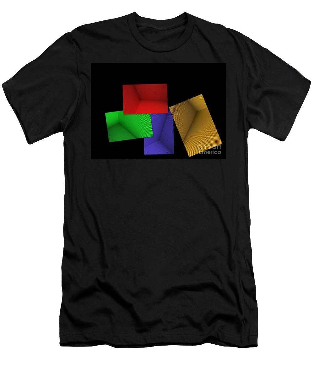 Abstract Art Men's T-Shirt (Athletic Fit) featuring the photograph Lean On Me by Carol Groenen