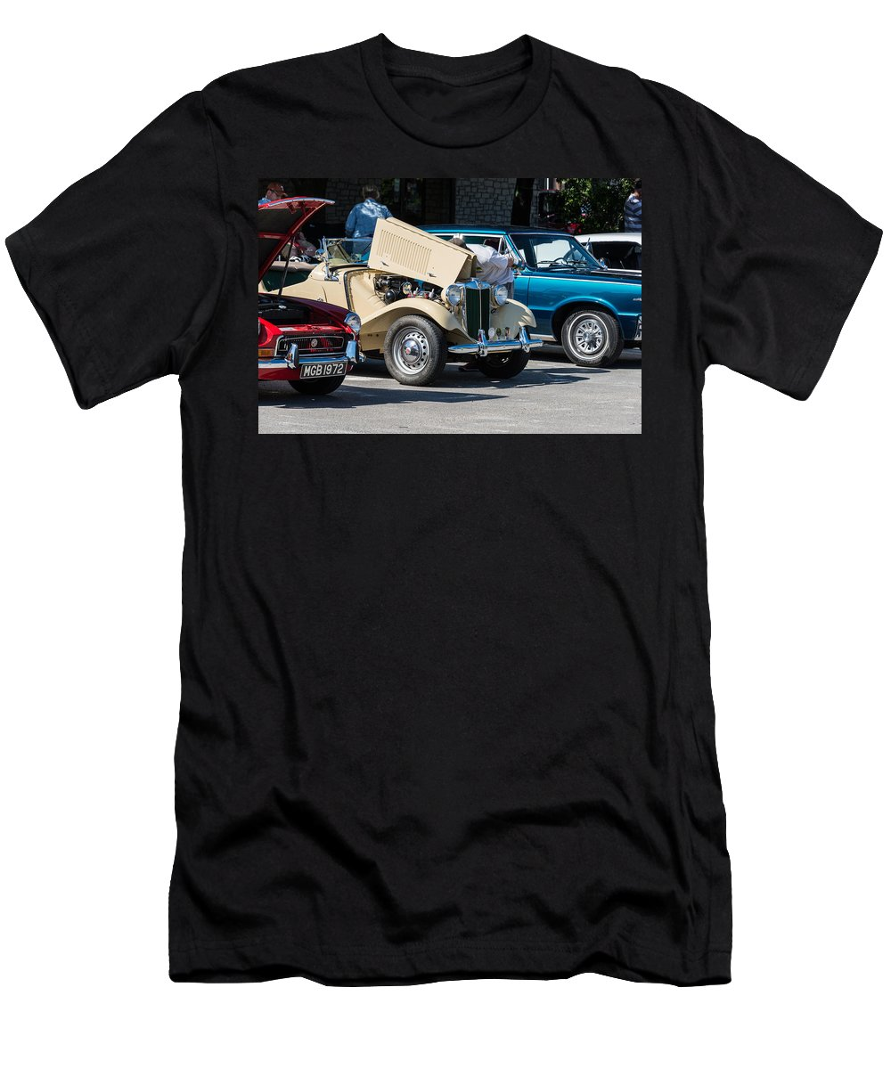 Leander Men's T-Shirt (Athletic Fit) featuring the photograph Leander Texas Car Show Viewing by JG Thompson