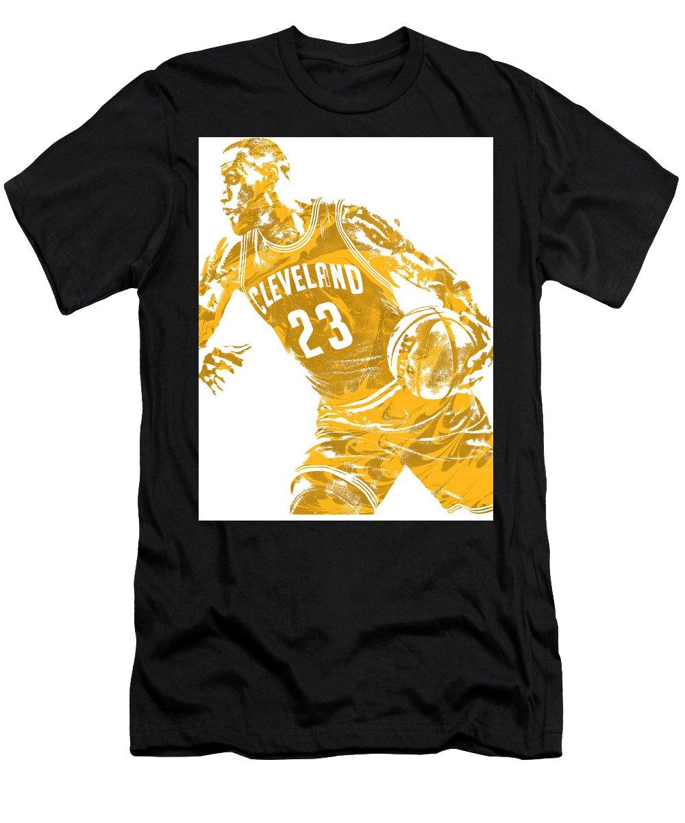 quality design d92a0 671fe Lebron James Cleveland Cavaliers Pixel Art 20 Men's T-Shirt (Athletic Fit)