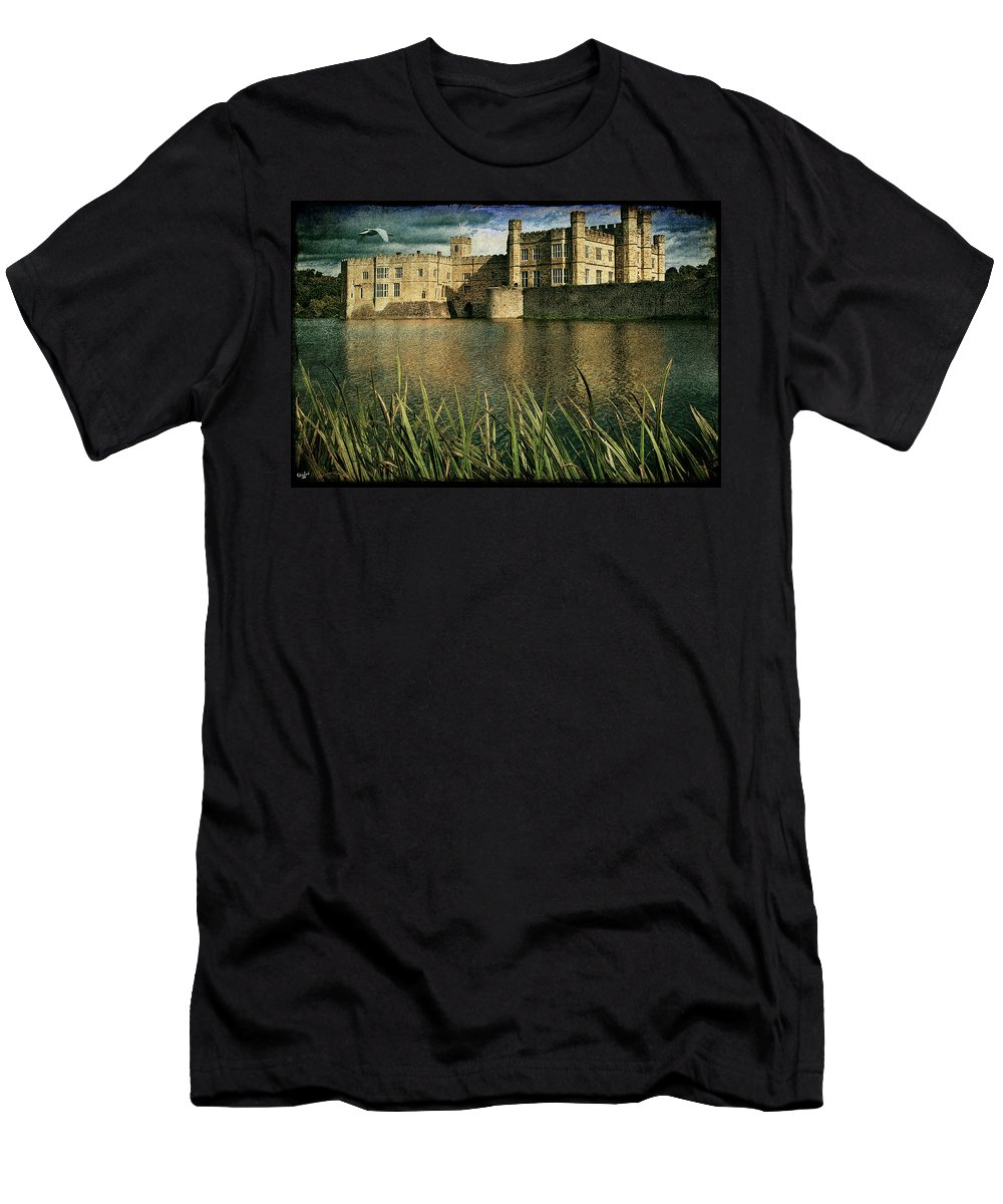 Castle Men's T-Shirt (Athletic Fit) featuring the photograph Leeds Castle In Kent by Chris Lord