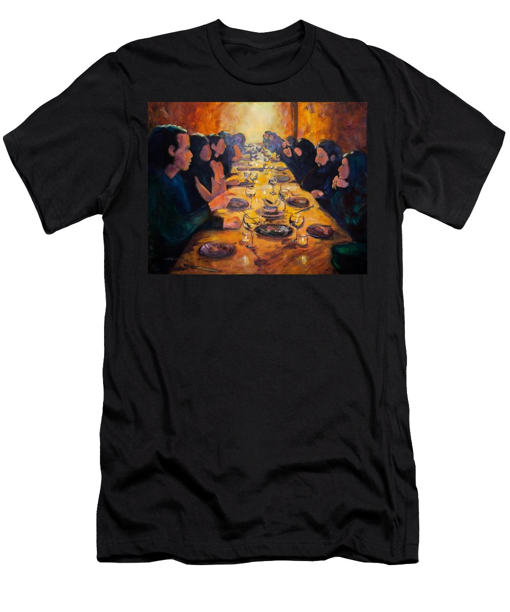 Food Men's T-Shirt (Athletic Fit) featuring the painting Leftovers by Jason Reinhardt
