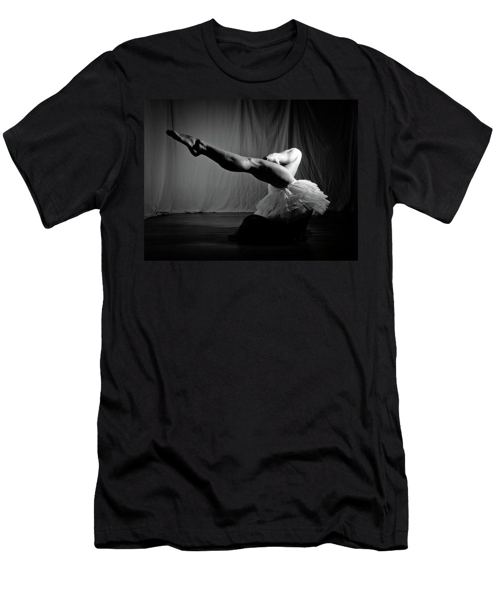 Dance Men's T-Shirt (Athletic Fit) featuring the photograph Leg Stretch by Scott Sawyer