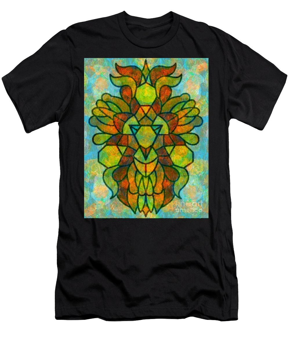 Abstract Men's T-Shirt (Athletic Fit) featuring the digital art Legacy Lion Celebration2 by Trent Jackson